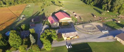 Arial photo of Sweetwater Stable